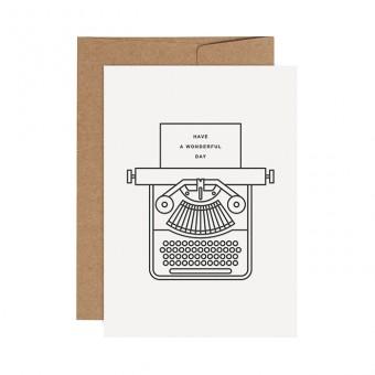 redfries typewriter –Letterpress-Klappkarte  DIN A6 mit Umschlag