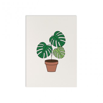 redfries la monstera – Postkarte DIN A6