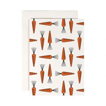 redfries carrot stew – Klappkarte DIN A6 mit Umschlag