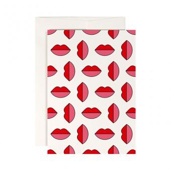 redfries lipstick jungle – Klappkarte DIN A6 mit Umschlag
