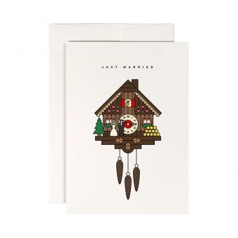 redfries cuckoo clock – Klappkarte DIN A6 mit Umschlag