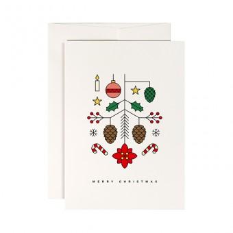 redfries christmas blossom – Klappkarte DIN A6 mit Umschlag
