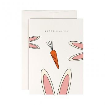 redfries white rabbits – Klappkarte DIN A6 mit Umschlag