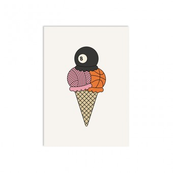redfries scoops –Postkarte DIN A6