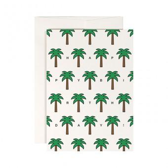 redfries palm beach –Klappkarte DIN A6 mit Umschlag