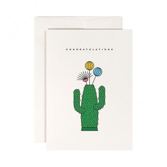 redfries cactus vase – Klappkarte DIN A6 mit Umschlag