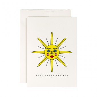 redfries sunface – Klappkarte DIN A6 mit Umschlag
