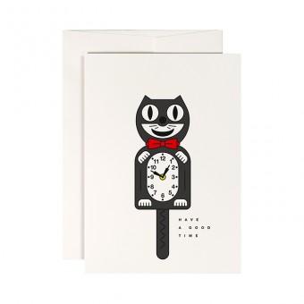 redfries crazy cat – Klappkarte DIN A6 mit Umschlag