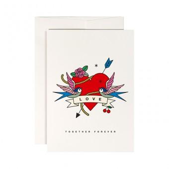 redfries eternal love –Klappkarte DIN A6 mit Umschlag