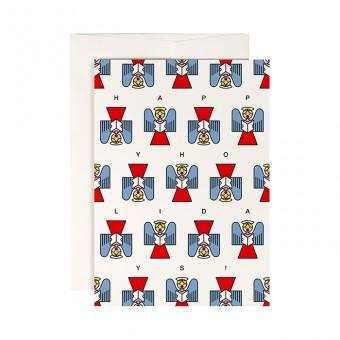redfries singstar – Klappkarte DIN A6 mit Umschlag
