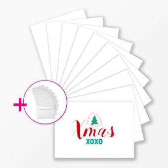 """TYPOP 10-teiliges Weihnachtskartenset """"Es weihnachtet sehr"""" DIN A6 inkl. Umschläge"""