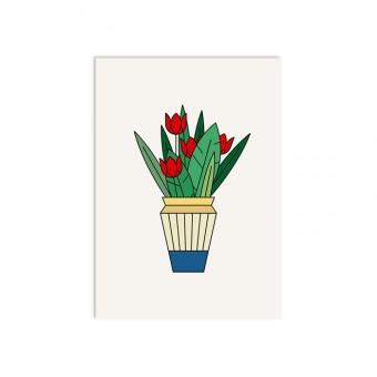 redfries tulips – Postkarte DIN A6