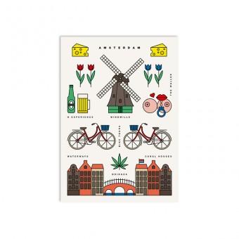 redfries amsterdam – Postkarte DIN A6