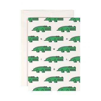 redfries crocodile safari – Klappkarte DIN A6 mit Umschlag