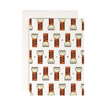 redfries tiger paw – Klappkarte DIN A6 mit Umschlag
