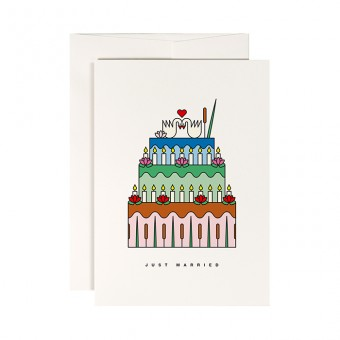 redfries water lily romance –Klappkarte DIN A6 mit Umschlag Hochzeit