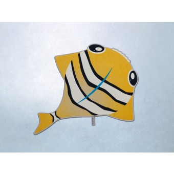 FLAT´N Teppich - The Fisch / Orange ( 125 x 145 cm)