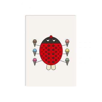 redfries ladybug – Postkarte DIN A6