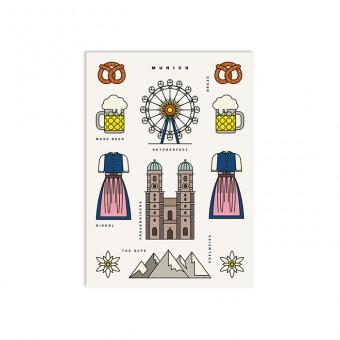 redfries munich – Postkarte DIN A6