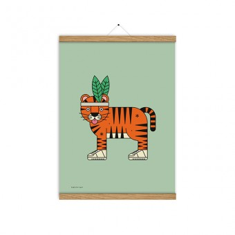 redfries high five tiger a3 – Kunstdruck DIN A3