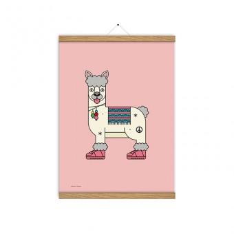 redfries shanti llama a3 – Kunstdruck DIN A3