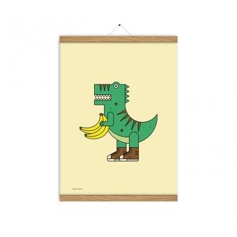 redfries veggiesaurus a3 –Kunstdruck DIN A3
