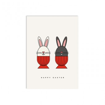 redfries bunny crew – Postkarte DIN A6