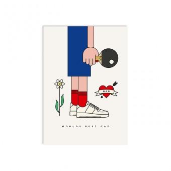 redfries worlds best dad – Postkarte DIN A6
