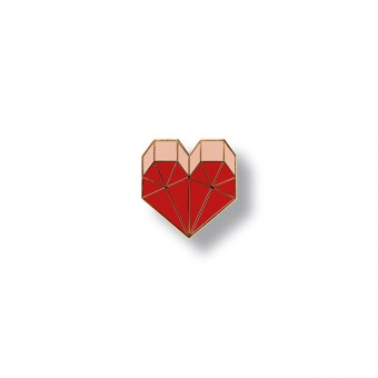 redfries pin heart – Pin Hartemaille