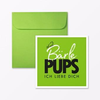 "TYPOP Postkarte ""Bärlepups"" quadratisch inkl. Umschlag"