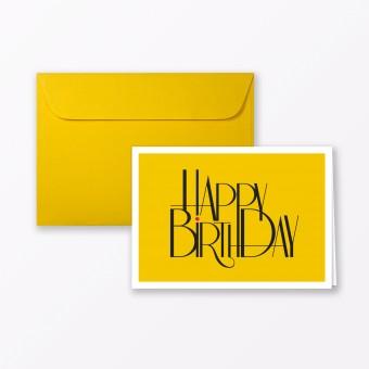 "TYPOP Geburtstagskarte ""Happy Birthday to You"" Klappkarte A6 inkl. Umschlag"