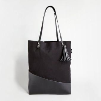 TAHTI Schultertasche / Shopper THUYA BLACK