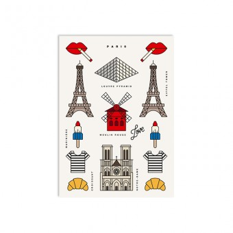 redfries paris – Postkarte DIN A6