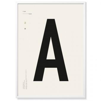 TYPE HYPE Poster DIN, erhältlich von A bis Z (50 x 70 cm)