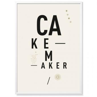 TYPE HYPE Poster DIN Cakemaker (50 x 70 cm)