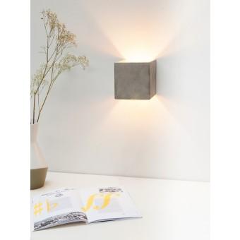 GANTlights - [B3] Wandlampe quadratisch Beton und Gold