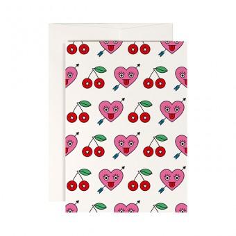 redfries heartbreaker – Klappkarte DIN A6 mit Umschlag