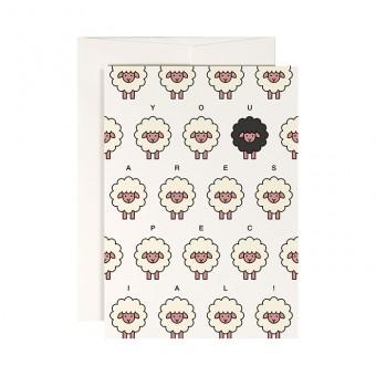 redfries black sheep – Klappkarte DIN A6 mit Umschlag