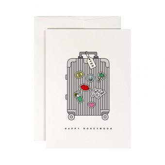 redfries honeymoon – Klappkarte DIN A6 mit Umschlag Hochzeit