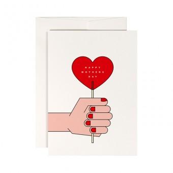 redfries red lollipop – Klappkarte DIN A6 mit Umschlag