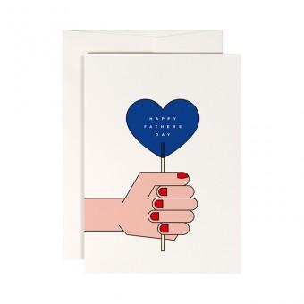 redfries blue lollipop – Klappkarte DIN A6 mit Umschlag