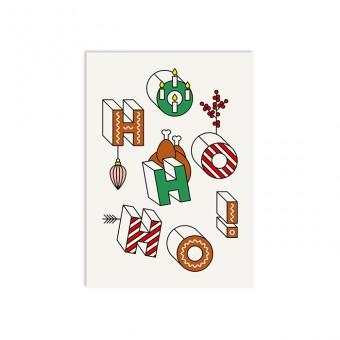 redfries ho ho ho – Postkarte DIN A6