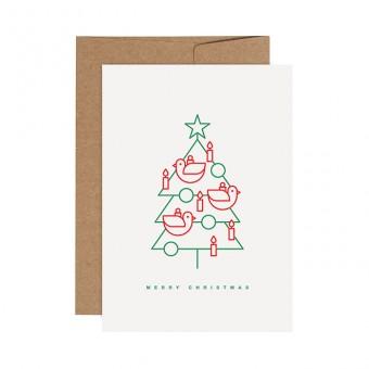 redfries birdtree – Letterpress-Klappkarte DIN A6 mit Umschlag