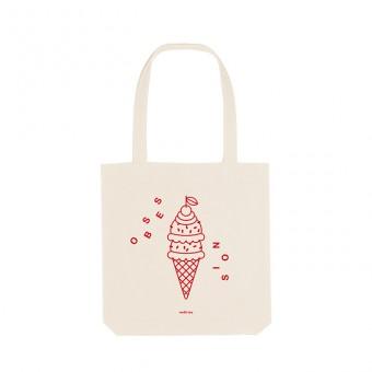 redfries tote bag icecream – Recycelte Baumwolltasche