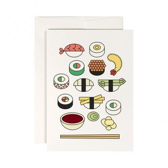 redfries sushi box – Klappkarte DIN A6 mit Umschlag