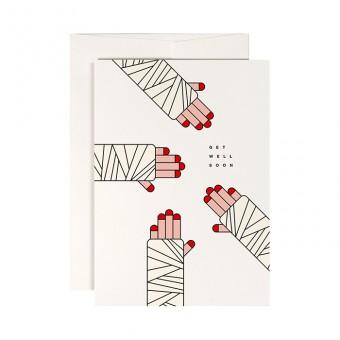 redfries plaster desaster – Klappkarte DIN A6 mit Umschlag