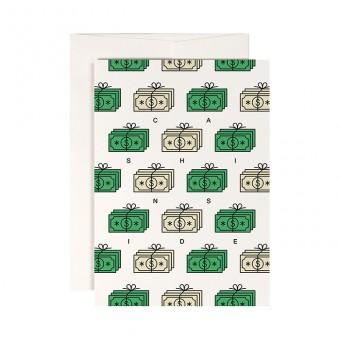 redfries moneymaker – Klappkarte DIN A6 mit Umschlag