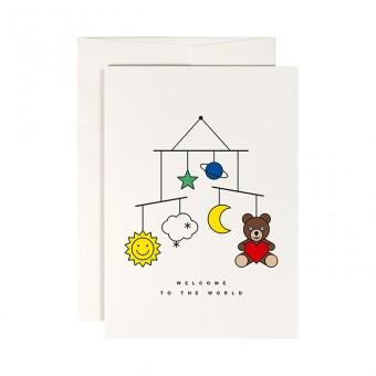 redfries welcome baby – Klappkarte DIN A6 mit Umschlag