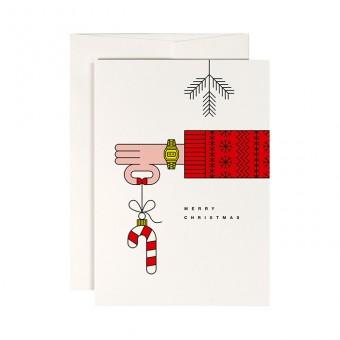 redfries lillehammer – Klappkarte DIN A6 mit Umschlag, 3 Stück, Weihnachten