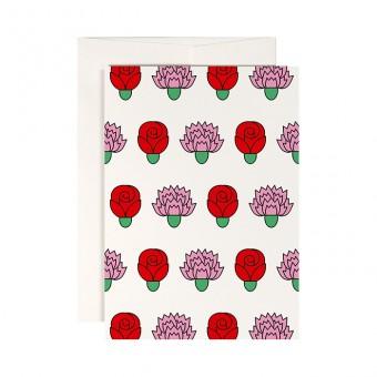 redfries pink rosy – Klappkarte DIN A6 mit Umschlag